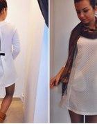 Sukienka pikowana kokardka