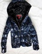 lakierowana pikowana kurtka XS S