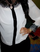 Koszula z czarną koronką...