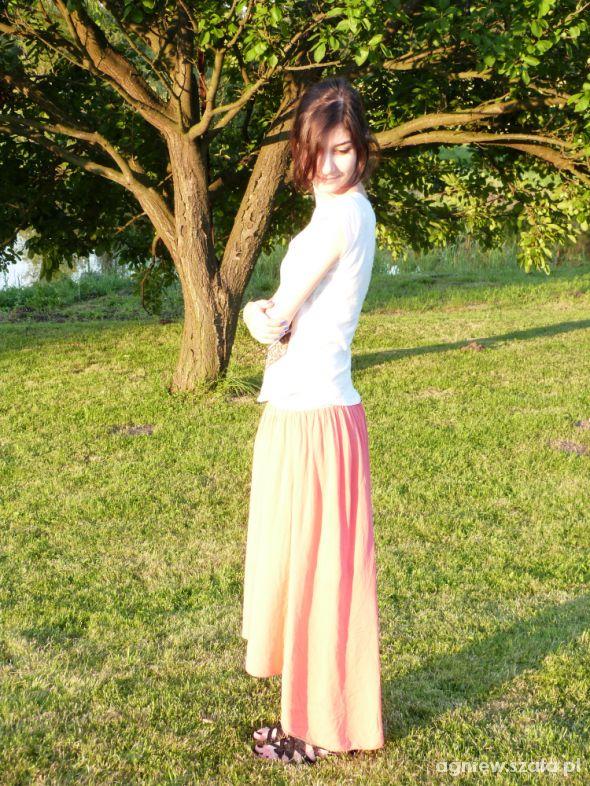Mój styl Długa asymetryczna spódnica
