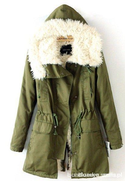 Ubrania zimowa kurtka parka