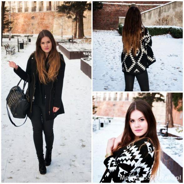 Blogerek Winter snow aztec sweater