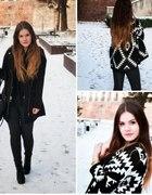 Winter snow aztec sweater