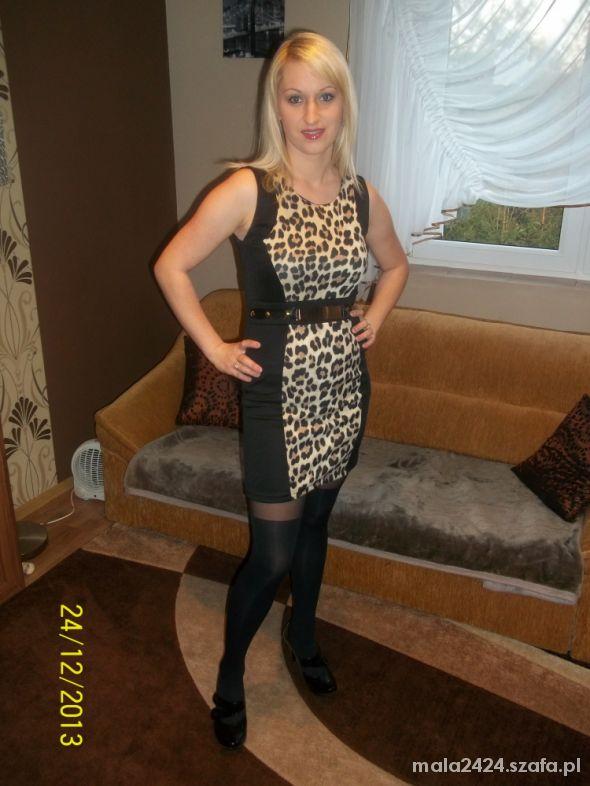 Eleganckie Sukienka z motywem panterki