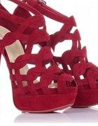 Szpilki sandałki czerwone bordo louboutin...