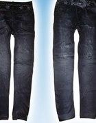 Legginsygetry jak jeans ocieplane polarem
