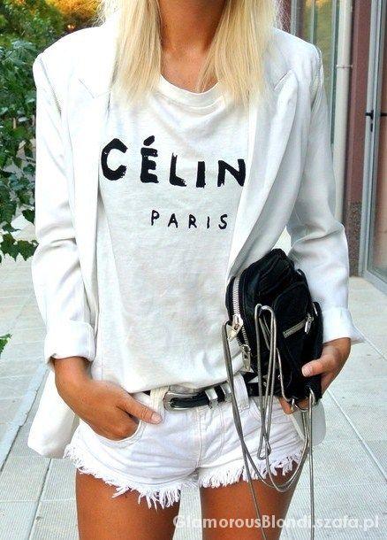 Biała bluzka CELINE
