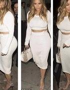 biała spódniczka midi xss