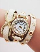 Zegarek Retro Skórzany Infinity Walentynki