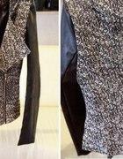 kurtka żakiet ramoneska skórzane rękawy