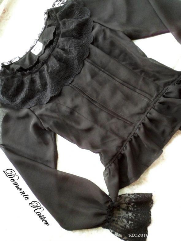 Lady Sloth szyfonowa bluzka gothic lolita...