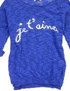 Kobaltowy sweterek STRADIVARIUS