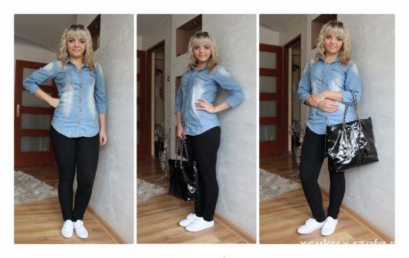 Codzienne Stylizacja z jeansową koszulą