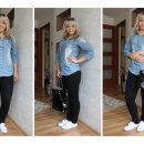 Stylizacja z jeansową koszulą