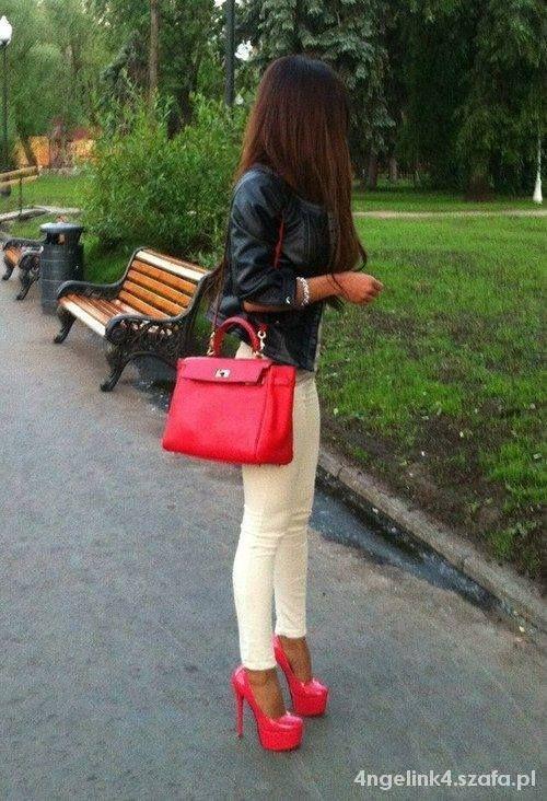 Eleganckie Czerwień