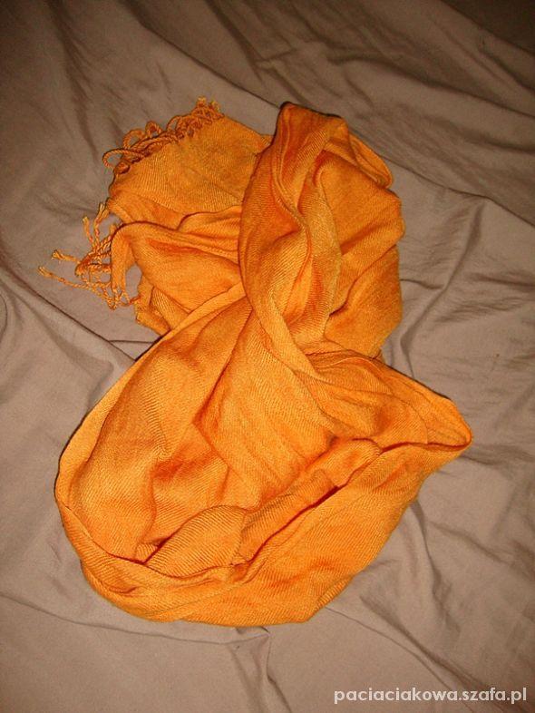Chusty i apaszki chusta pomarańczowa