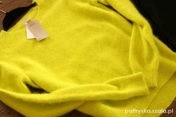 50e30ed080d466 ŻÓŁTY moherowy sweterek s w Ubrania - Szafa.pl