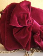 TOPSHOP velvet bow torebka z kokardą