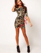 Złota Czarna sukienka