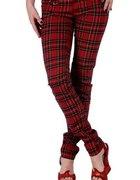spodnie rurki krata punk...