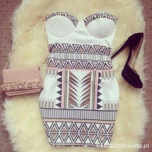 Ubrania Sukienka geometryczna