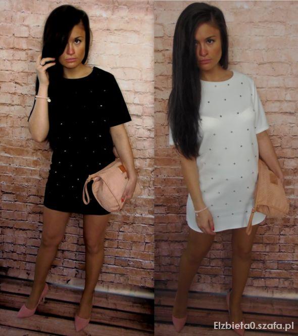 Sexi sukienka z ćwiekami siwiec ragazza wiosna 2014