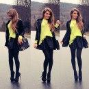 limonka i czerń