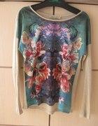 Bluzka z printem w kwiaty XS 34