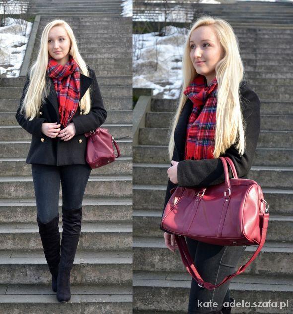 Blogerek black and tartan
