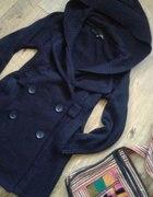 UNIKAT Granatowy sweter 2w1 long