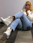 Sneakers white złote zamki