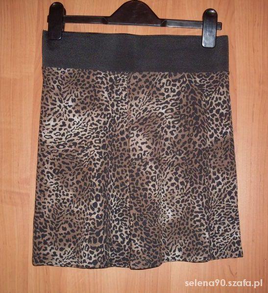 Spódnice Mini spódniczka w panterkę