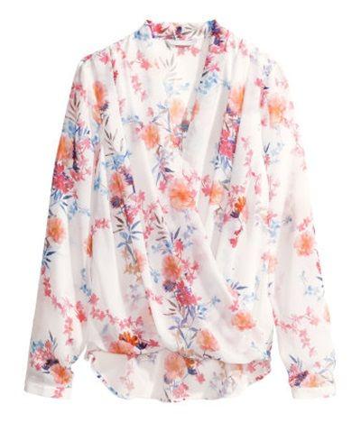bluzka kwiaty H&M