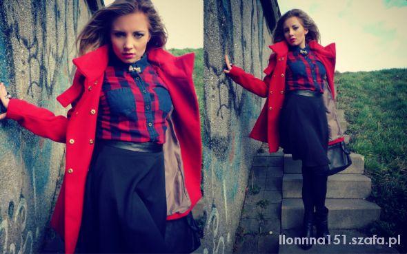 Mój styl Red Coat