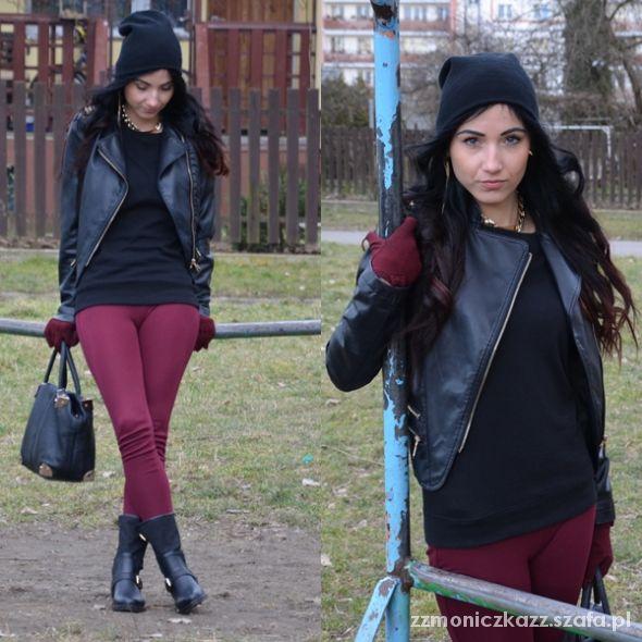Blogerek burgundy & black