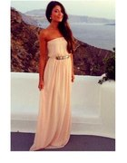 Sukienka maxi pudrowy róż mega długa