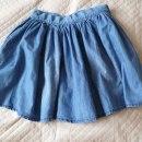 Jeansowa mini spódnica z koła