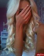 Blond loczki