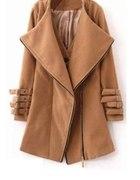 romwe karmelowy ramoneska kamizelka płaszcz 38