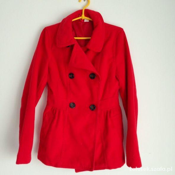 Płaszczyk czerwony ciepły H&M