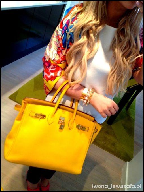Hermes Birkin 35 żółta yellow
