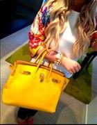 Hermes Birkin 35 żółta yellow...