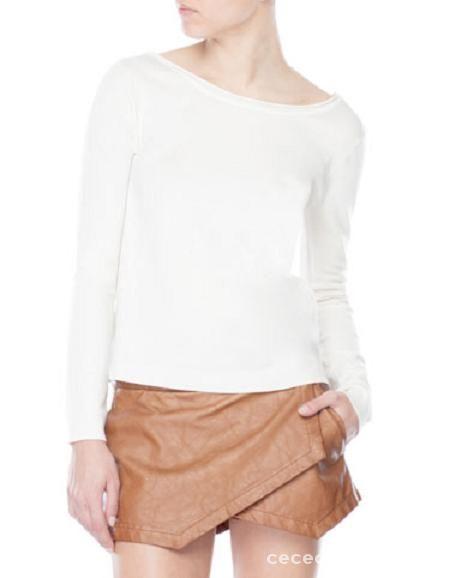 stradivarius sweter bluza koronka