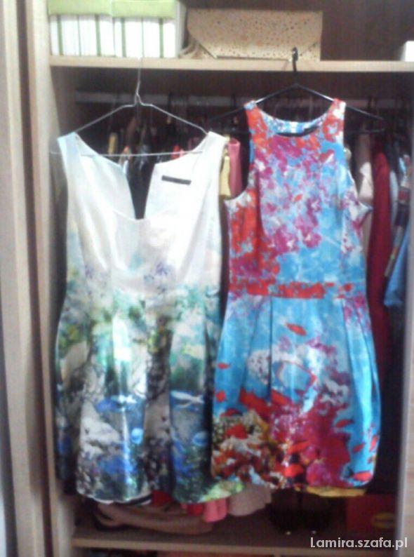 Zara fish print dress rafa akwarium rybki