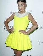 Sukienka żółta rozkloszowana ala princesska