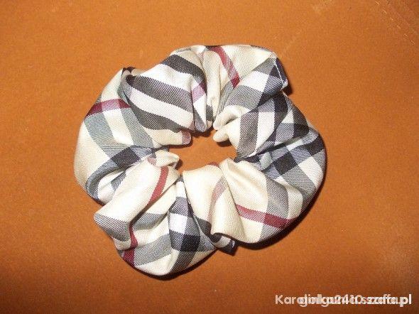 Dodatki gumka do włosów BURBERRY krata