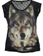 koszulka z wilkiem seksowne plecy