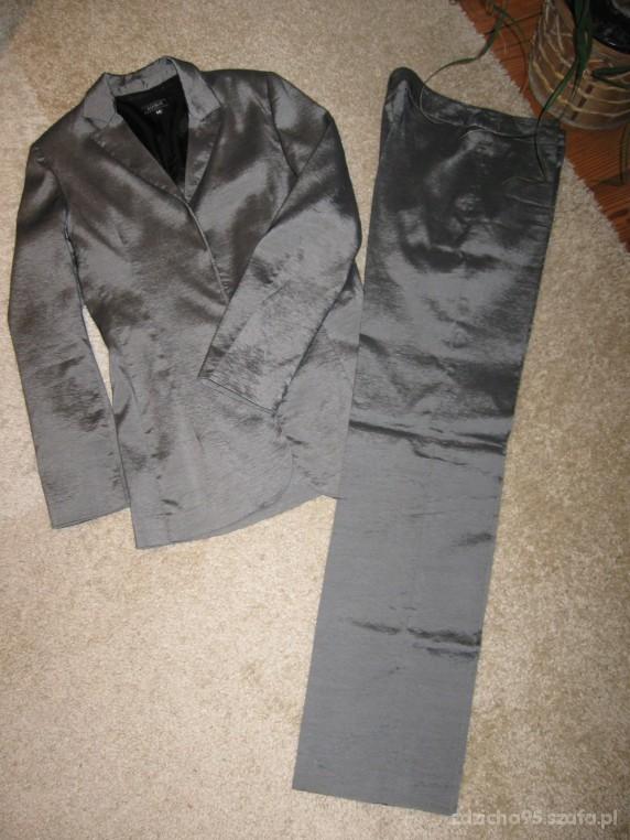 Szarosrebrny garnitur