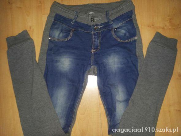 624428cf67bb jeansy dresy leginsy szare M super wygodne w Spodnie - Szafa.pl