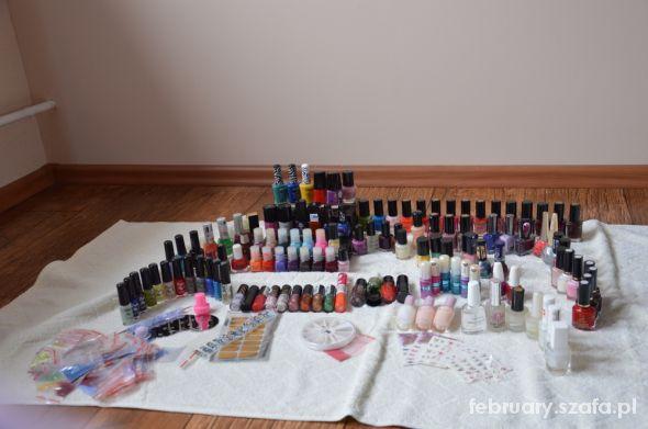 Moja kolekcja lakierów i ozdób